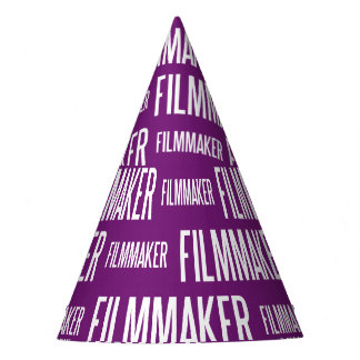 Filmmaker paper party hat (purple)