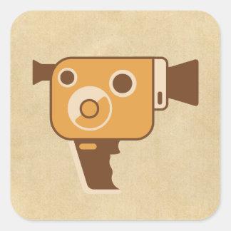 Filmmaking Auteur Movie Camera Square Stickers