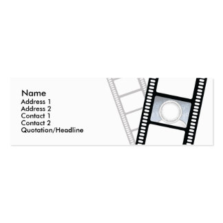Filmstrip - Skinny Business Card Templates