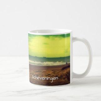 Filtered Scheveningen Beach And A Horse Coffee Mug