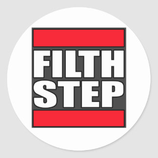 FILTHSTEP Dubstep Filth Filthy Dub Step Classic Round Sticker