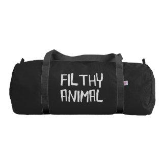 Filthy Animal White Gym Bag