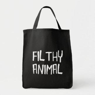 Filthy Animal White Tote Bag