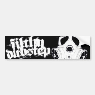 Filthy Dubstep Bumber Sticker 1 (Black) Bumper Sticker