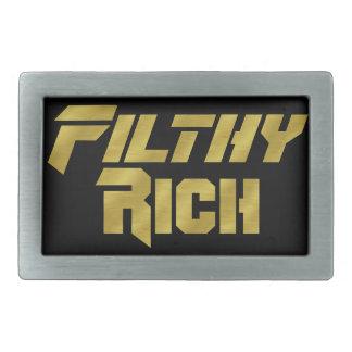 Filthy Rich Rectangular Belt Buckles