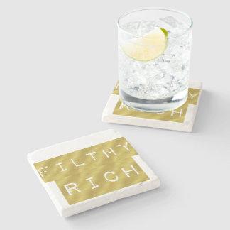 Filthy Rich Stone Beverage Coaster