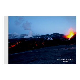 Fimmvörðuháls Volcano in Iceland Poster