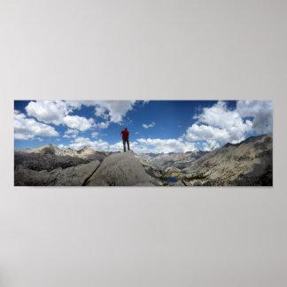 Fin Dome Panorama - John Muir Trail Poster