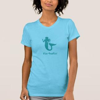 Fin-tastic! -- Aqua Print T-Shirt