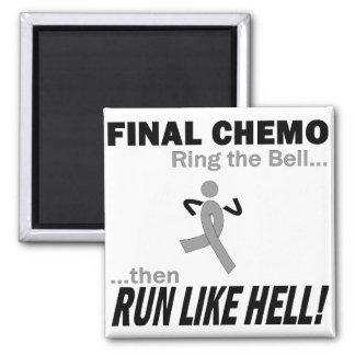 Final Chemo Run Like Hell - Brain Cancer Fridge Magnets