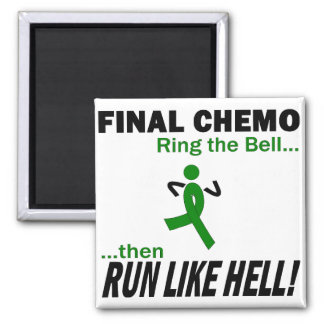 Final Chemo Run Like Hell - Kidney Cancer Square Magnet