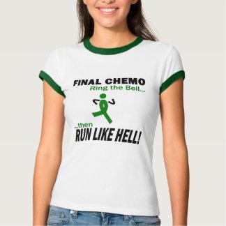 Final Chemo Run Like Hell - Kidney Cancer T-Shirt
