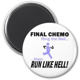 Final Chemo Run Like Hell - Lavender Ribbon 6 Cm Round Magnet