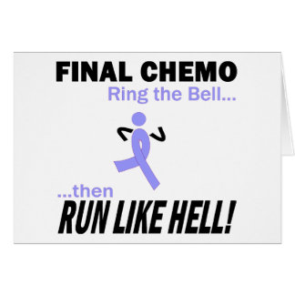 Final Chemo Run Like Hell - Lavender Ribbon Card