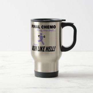 Final Chemo Run Like Hell - Lavender Ribbon Travel Mug