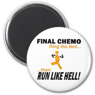 Final Chemo Run Like Hell - Leukemia 6 Cm Round Magnet