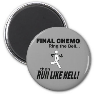 Final Chemo Run Like Hell - Lung Cancer 6 Cm Round Magnet
