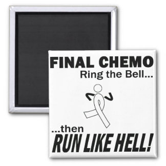 Final Chemo Run Like Hell - Lung Cancer Square Magnet