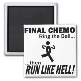 Final Chemo Run Like Hell - Melanoma Square Magnet