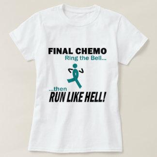 Final Chemo Run Like Hell - Ovarian Cancer Tee Shirts