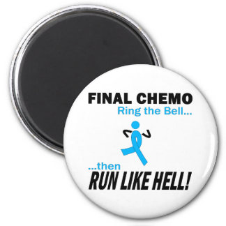 Final Chemo Run Like Hell - Prostate Cancer 6 Cm Round Magnet