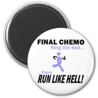 Final Chemo Run Like Hell - Stomach Cancer 6 Cm Round Magnet