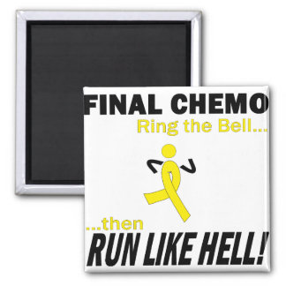 Final Chemo Run Like Hell - Testicular Cancer Square Magnet
