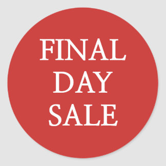 Final Day Sale Stickers