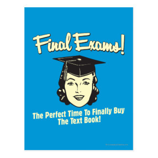 Final Exams: Finally Buy the Text Book Postcard