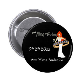 Final Fling Before The Ring Ginger Bride 6 Cm Round Badge