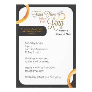 Final Fling Before the Ring Party Invite