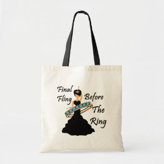 Final Fling Before The Ring White Background Budget Tote Bag