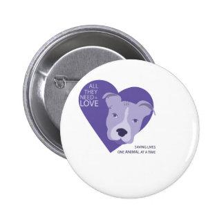final Rescue Logo purple Pinback Button
