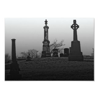 Final resting place 9 cm x 13 cm invitation card