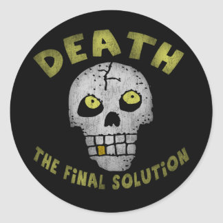 Final Solution Skull Round Stickers