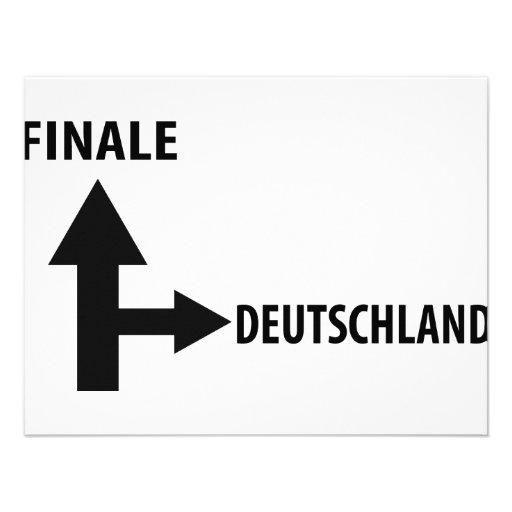 finale deutschland icon custom invitation