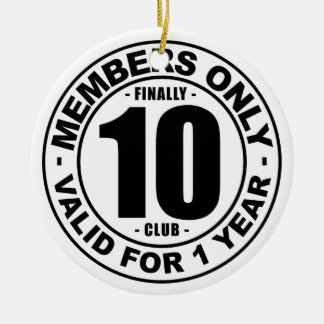 Finally 10 club ceramic ornament