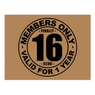 Finally 16 club postcard