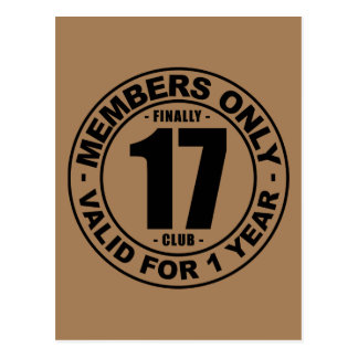 Finally 17 club postcard