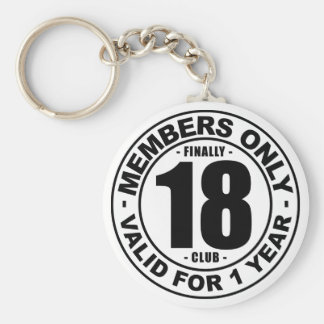 Finally 18 club key ring