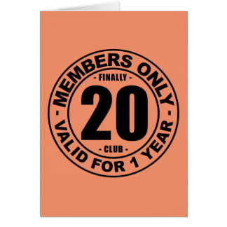 Finally 20 club card