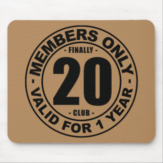 Finally 20 club mouse pad