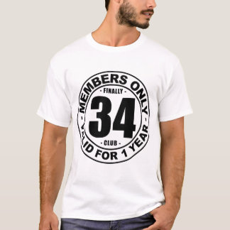 Finally 34 club T-Shirt