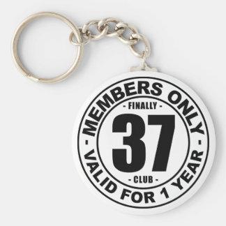 Finally 37 club basic round button key ring