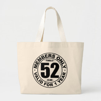 Finally 52 club large tote bag