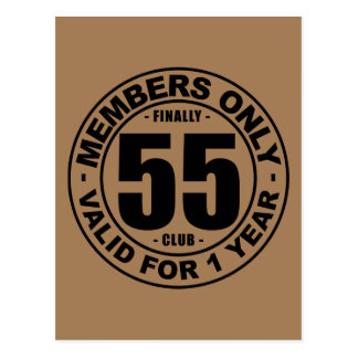 Finally 55 club postcard
