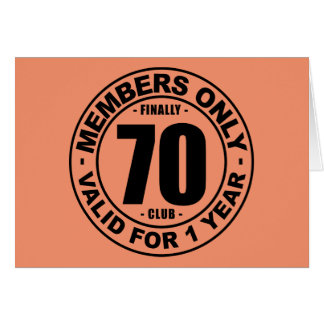 Finally 70 club card
