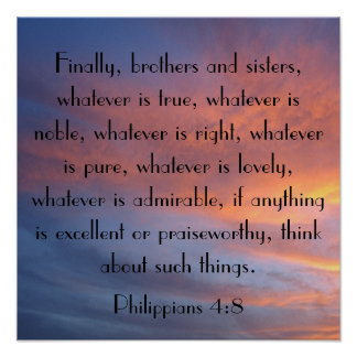 Finally brothers and sisters bible verse sunrise poster