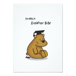 Finally doctor - congratulation map to the doctor  13 cm x 18 cm invitation card