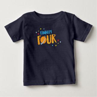 Finally Four Year Old Boy Birthday Shirt
